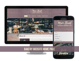 Bakery Website Design for Local Bakery