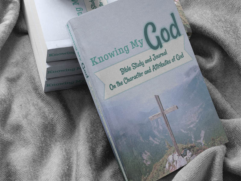 Knowing my God Bible Study and Journal Cover for Paperback and Ebook