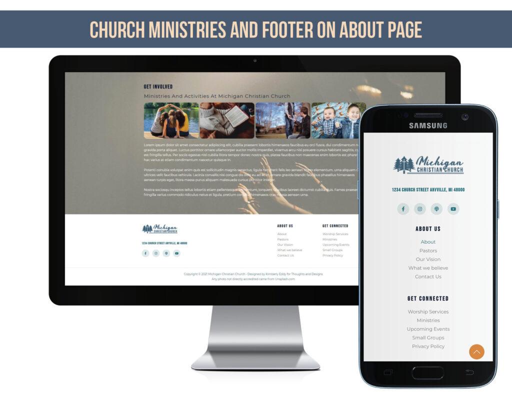A Church Website Footer
