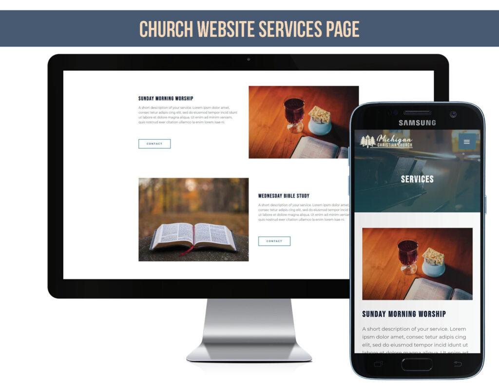Church Services on Church Website