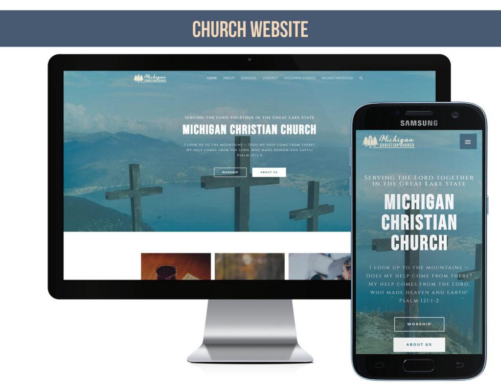 Sample church website in my design portfolio