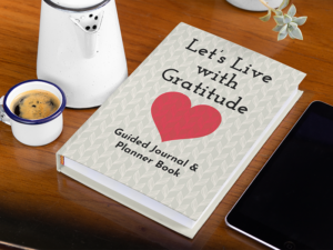 Let's live with Gratitude book cover for low content book